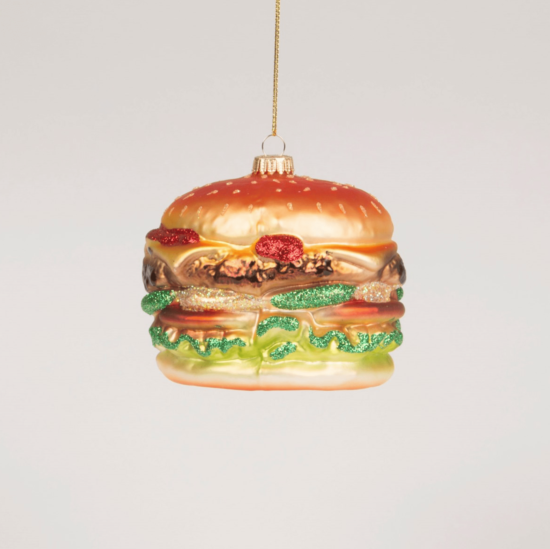 Fat Burger Shaped Bauble By Sass & Belle