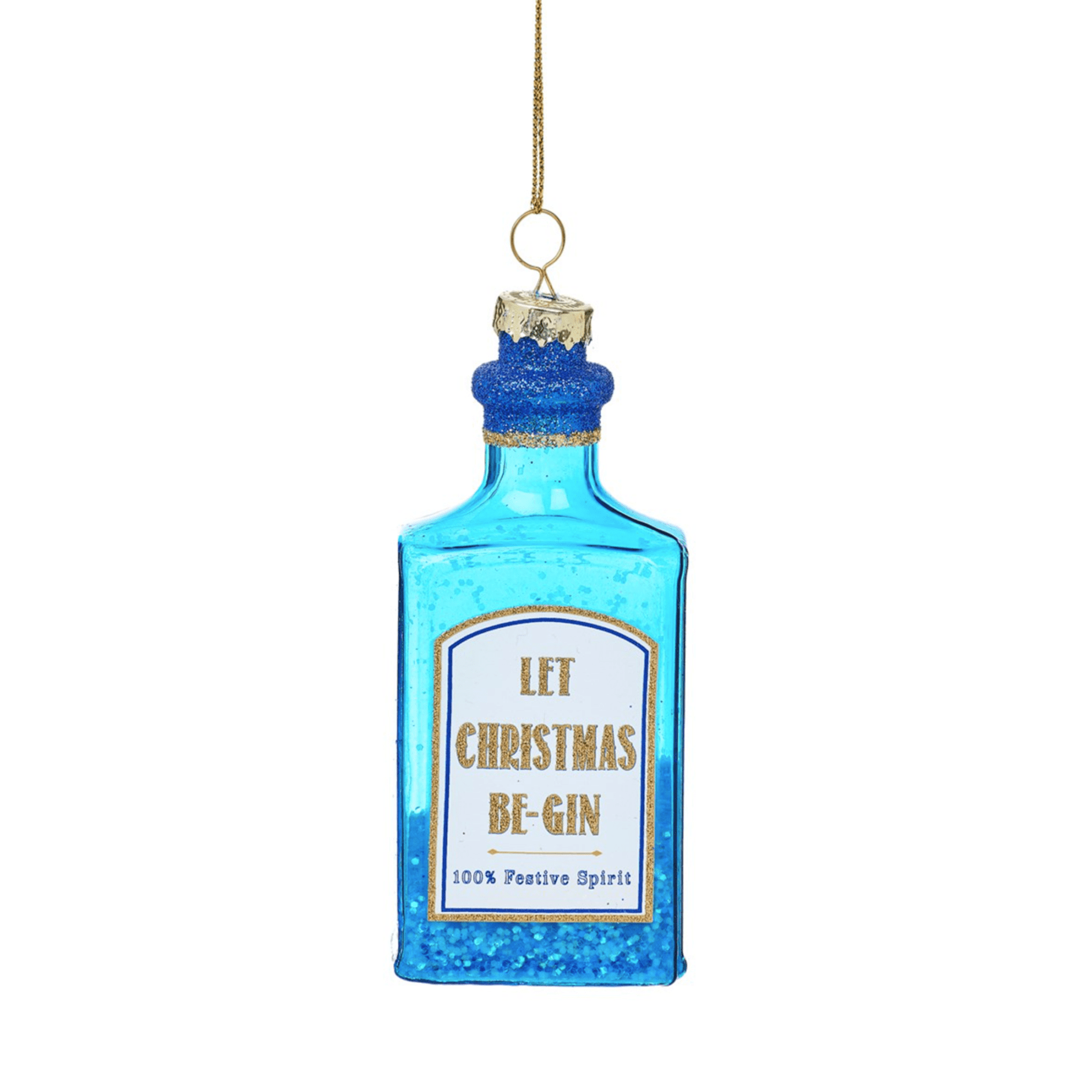 Gin Bottle Bauble By Sass & Belle