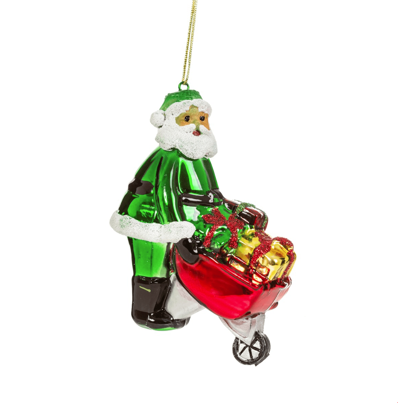 Green Santa Decoration By Sass & Belle