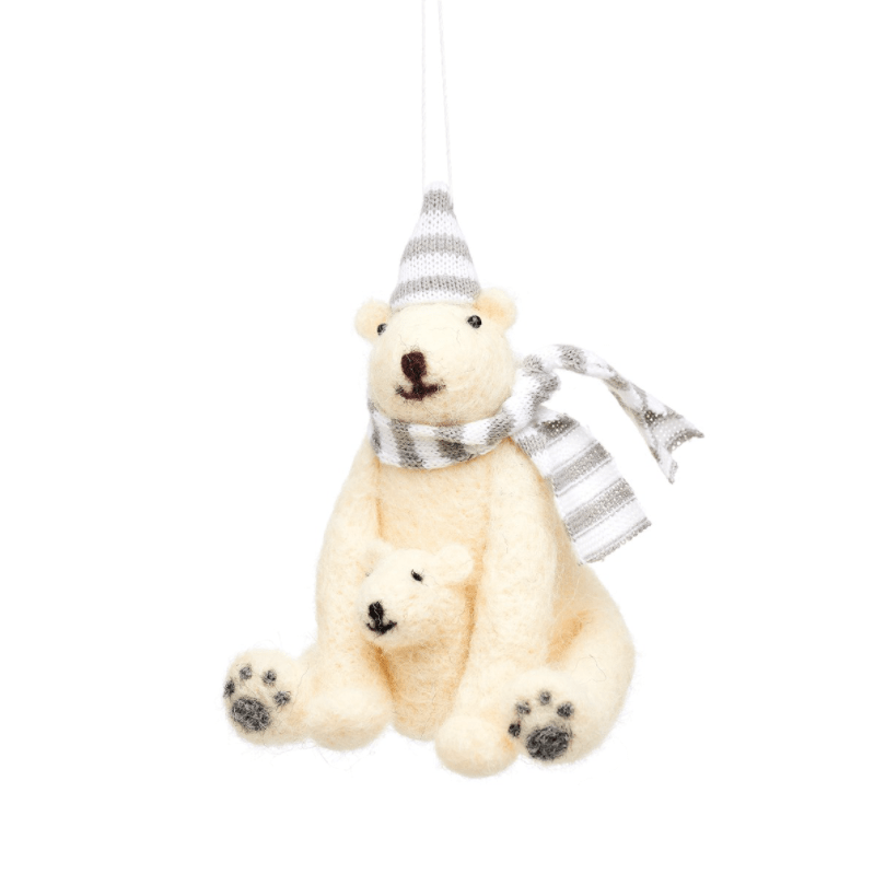 Polar Bear Decoration By Sass & Belle