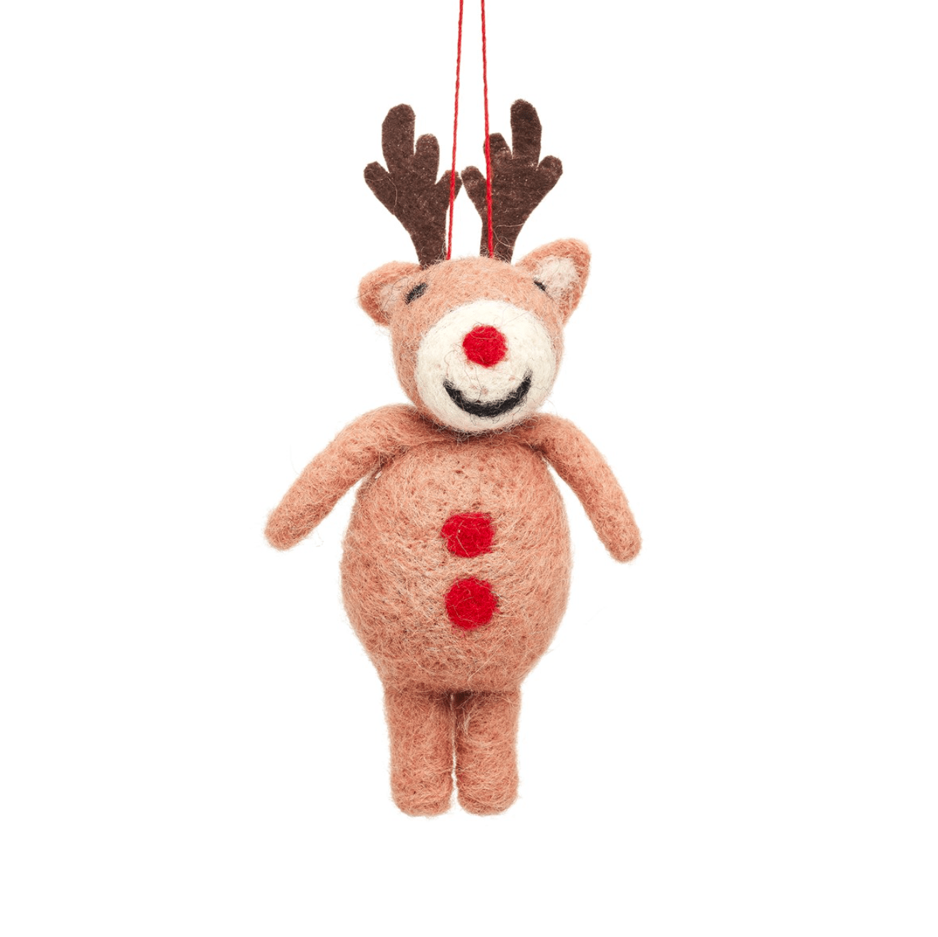 Reindeer Felt Decoration By Sass & Belle