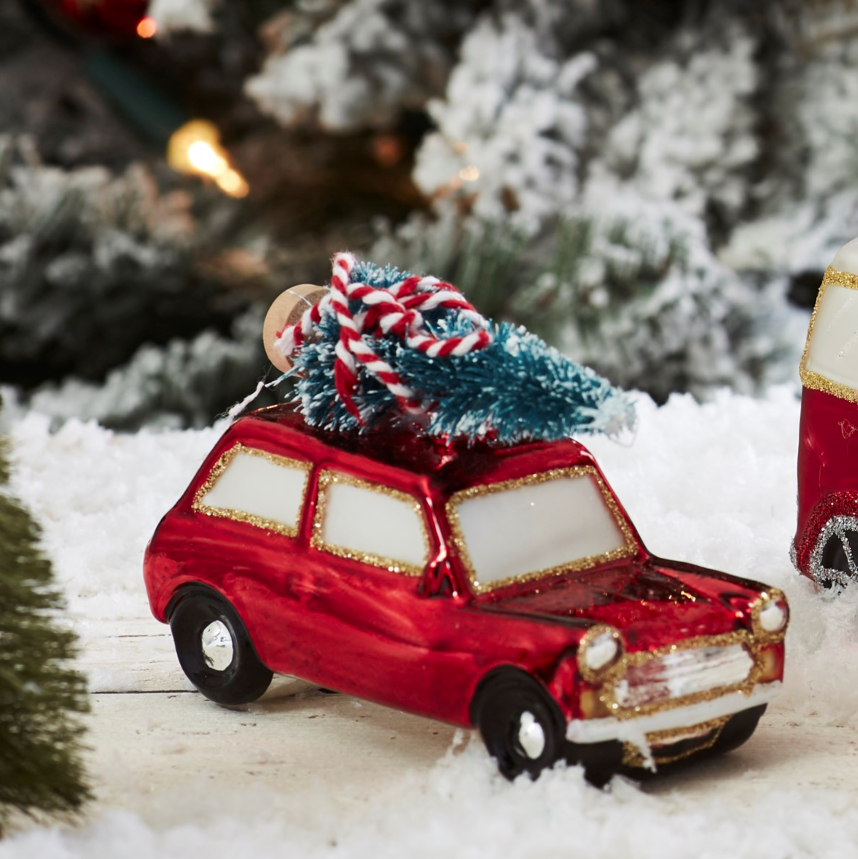 Coming Home For Christmas Red Car Bauble By Sass & Belle