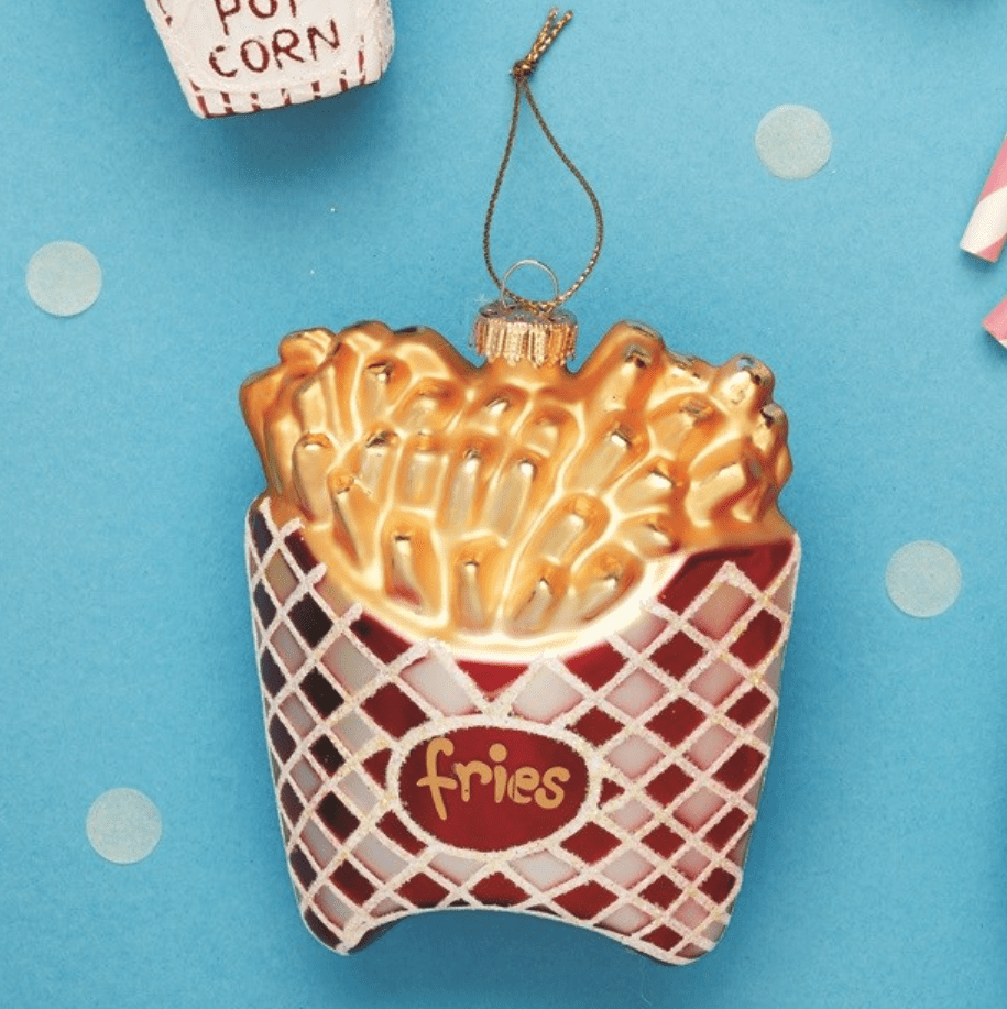 Fries Shaped Bauble By Sass & Belle