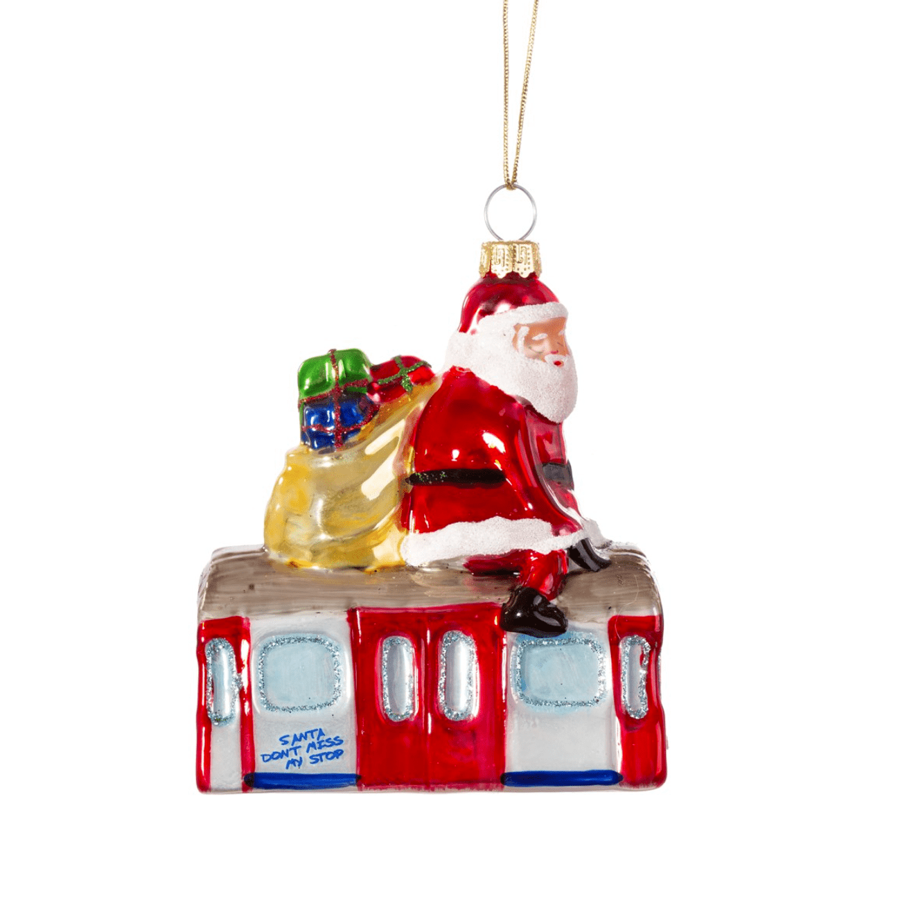 Santa On Tube Bauble By Sass & Belle