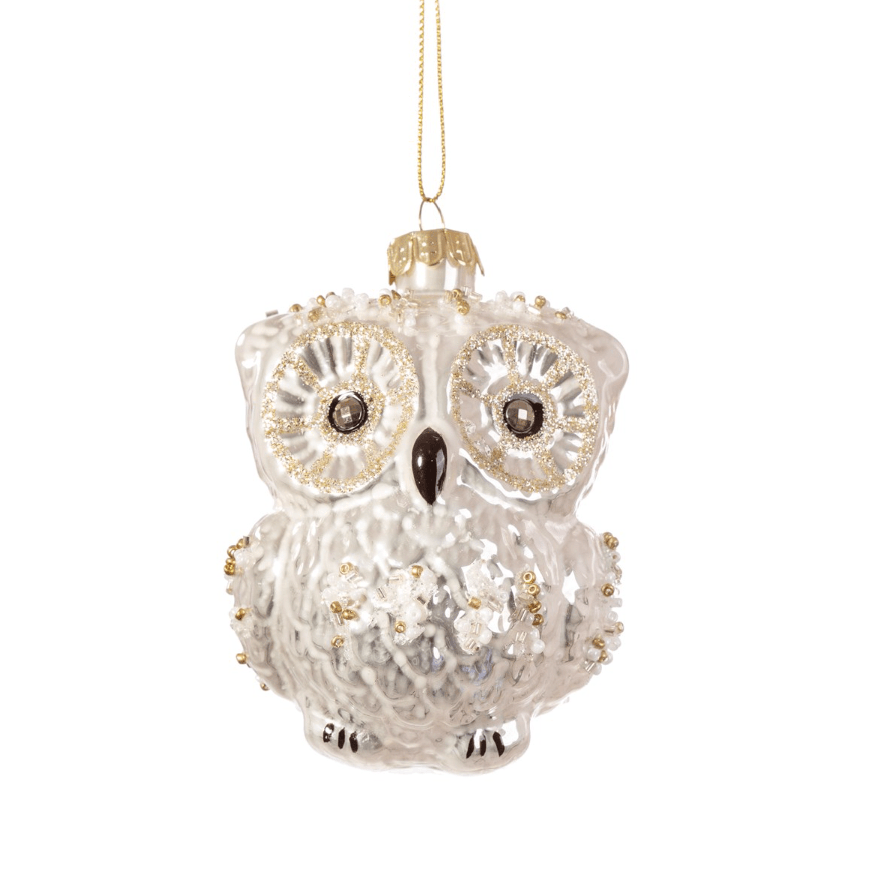 Snowy Owl Shaped Bauble By Sass & Belle